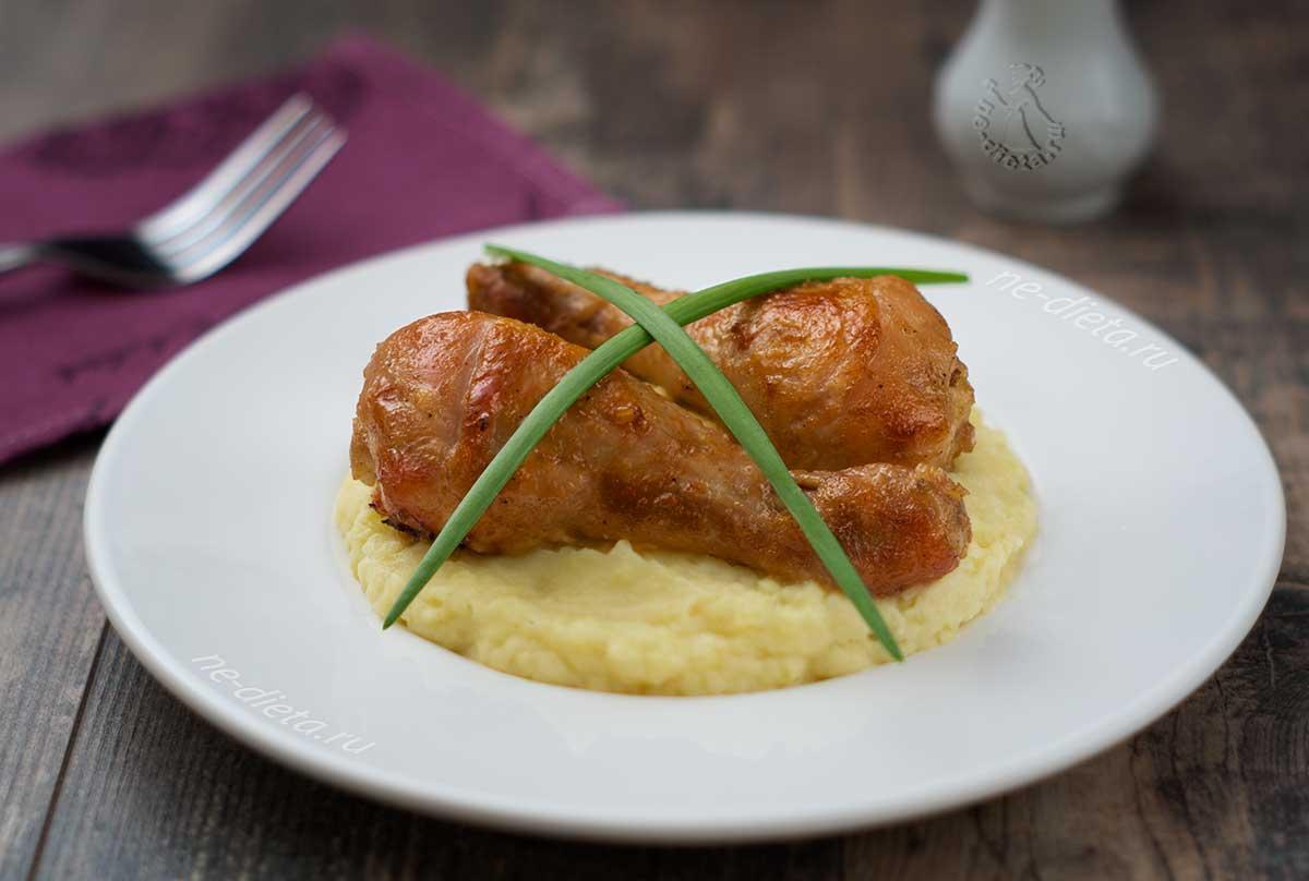 Куриные ножки в медово-горчичном соусе
