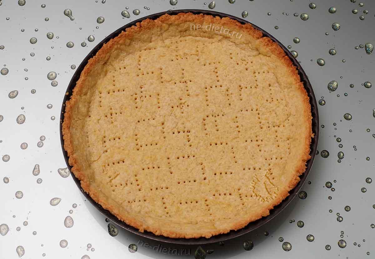 Песочная корзиночка для пирога с грушами