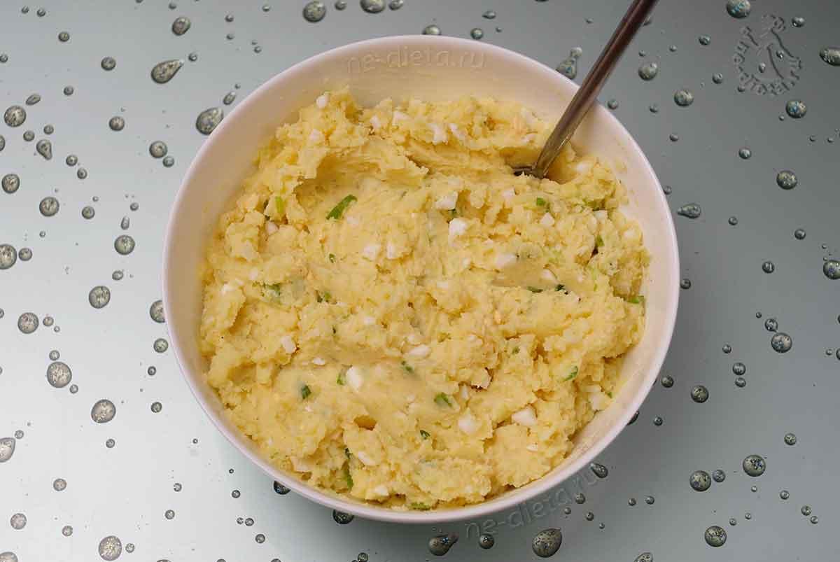 Масса для картофельных котлет с яйцом