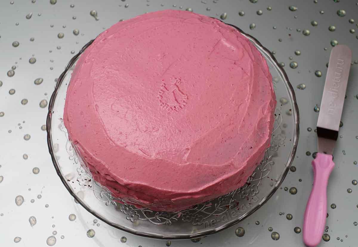 Шоколадно малиновый торт
