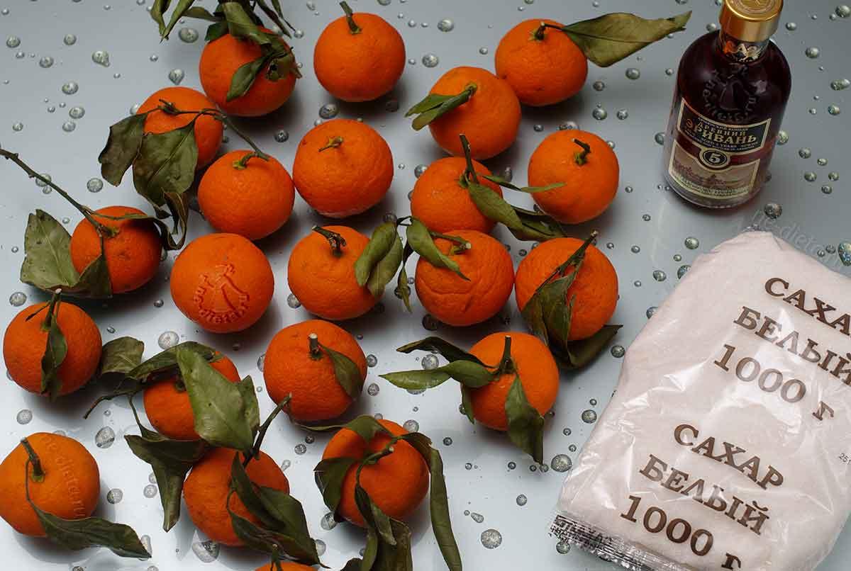 Ингредиенты варенья из мандаринов