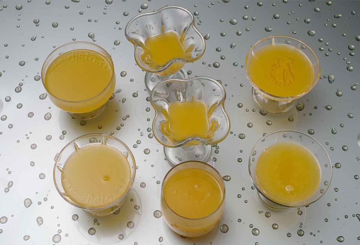 Апельсиновый слой желе