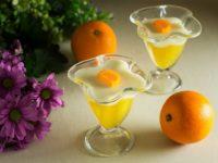Двухслойное апельсиновое желе