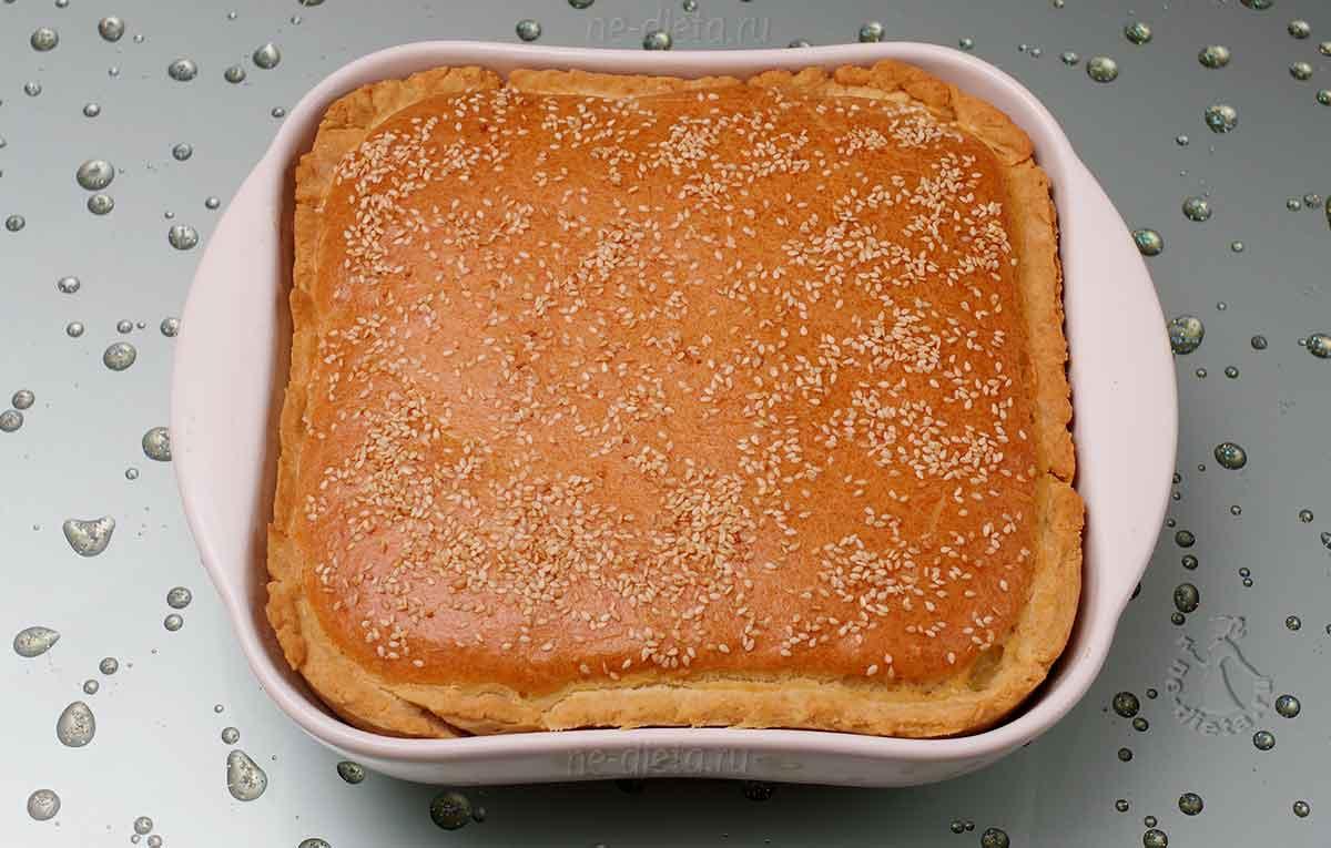 Закрытый пирог с мясом