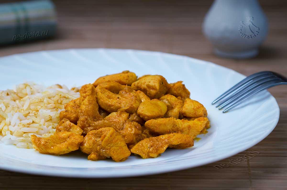 Куриное филе в пряном соусе