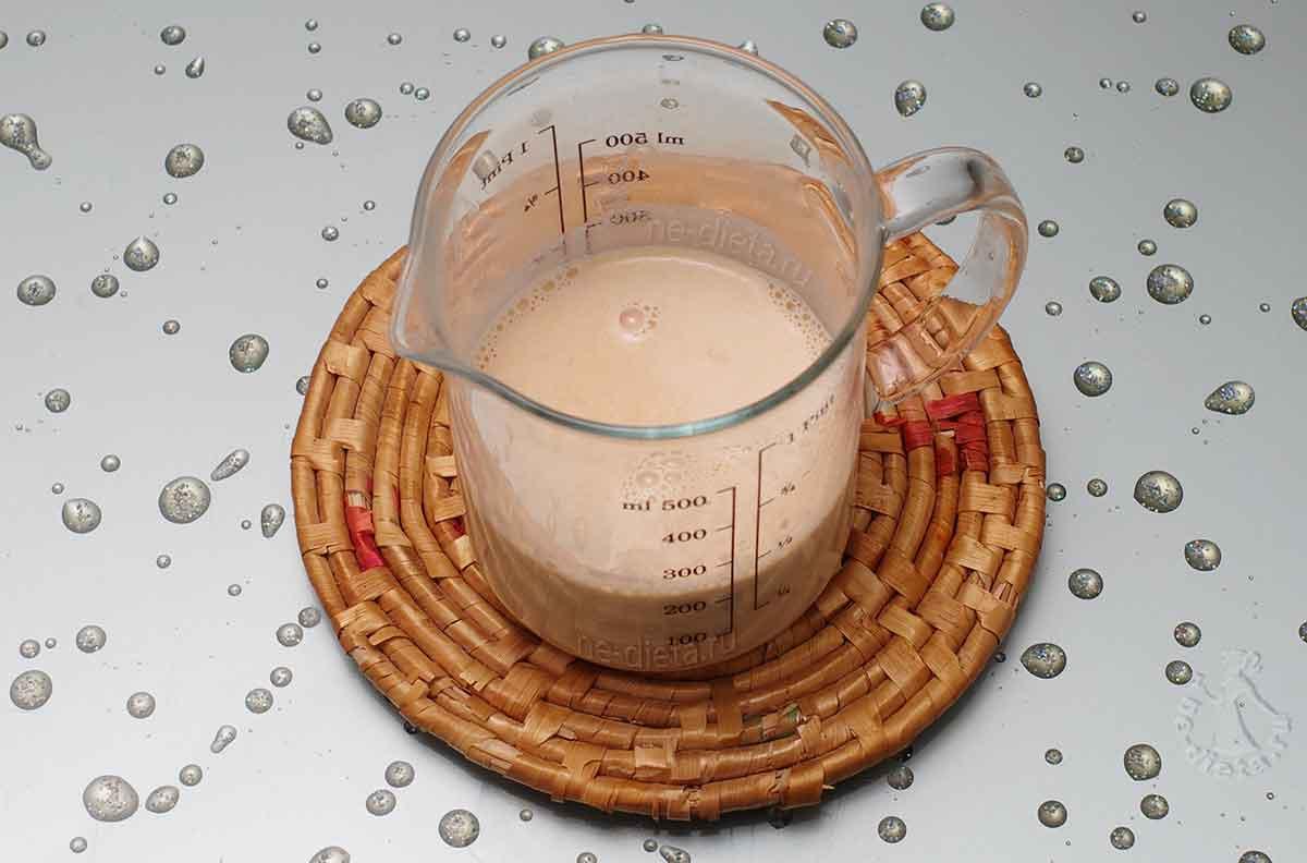 Крем разбавить молоком