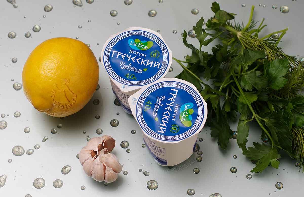 Ингредиенты для соуса на основе йогурта