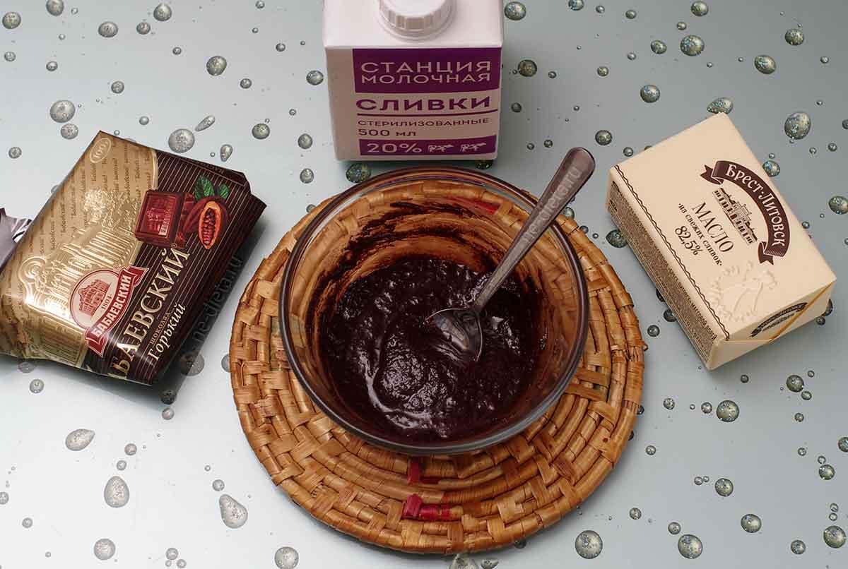 Шоколадная глазурь для кексов