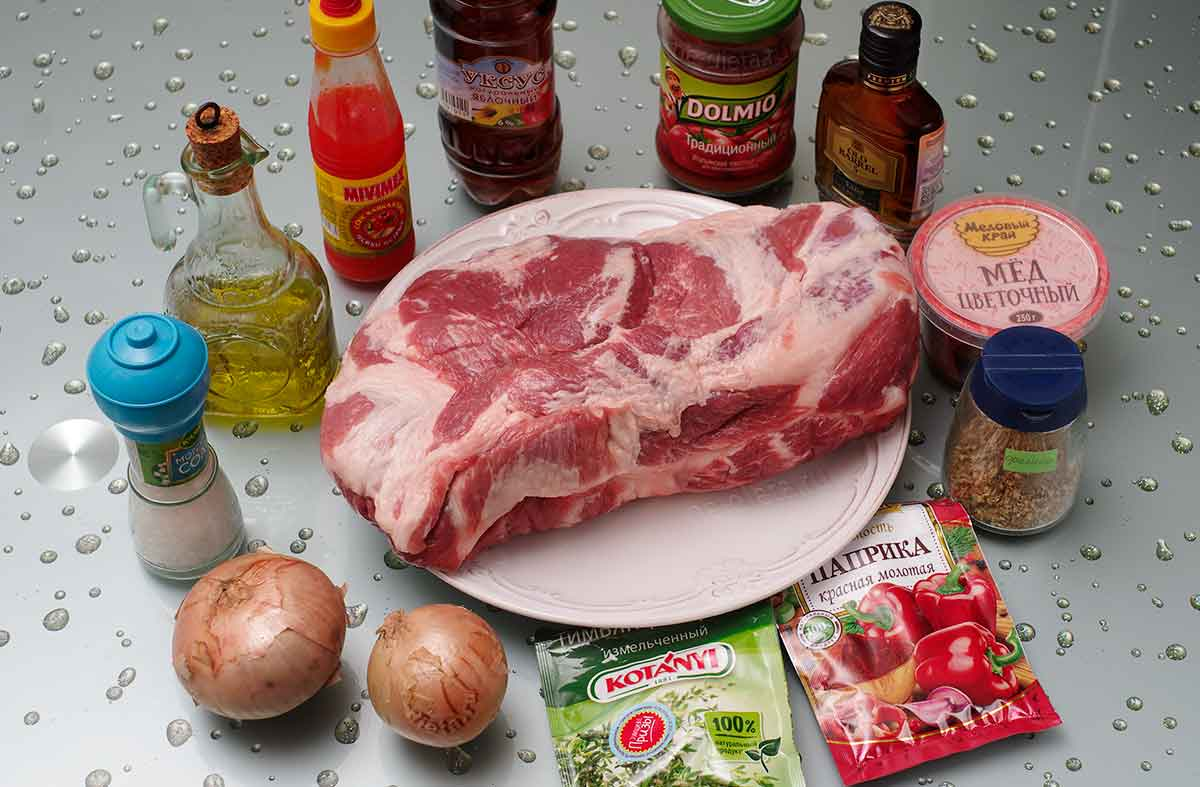 Ингредиенты для маринования свиного стейка