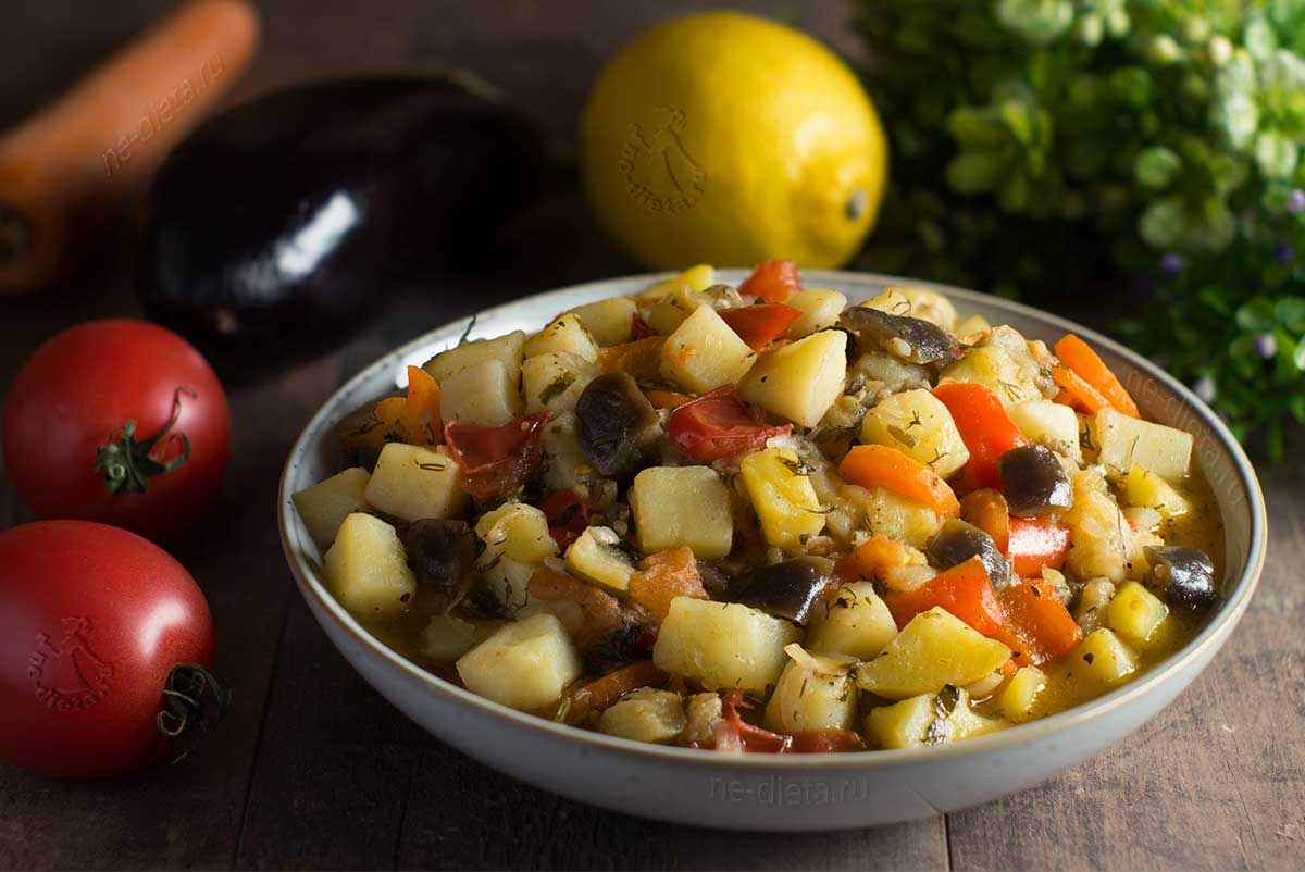 Овощное рагу с баклажанами и картошкой