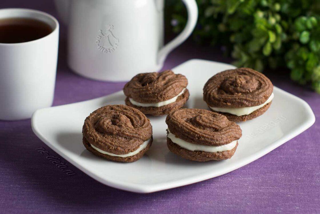Шоколадное печенье с маскарпоне