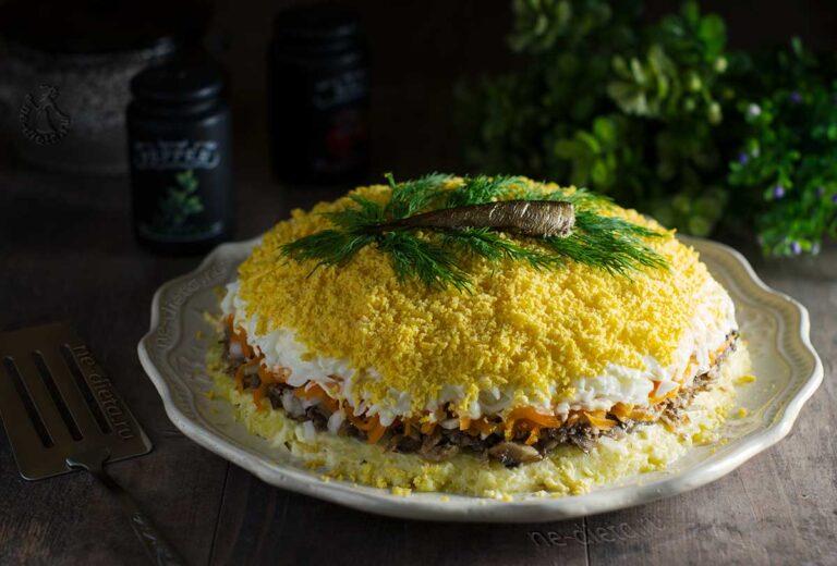 Салат «Мимоза» со шпротами
