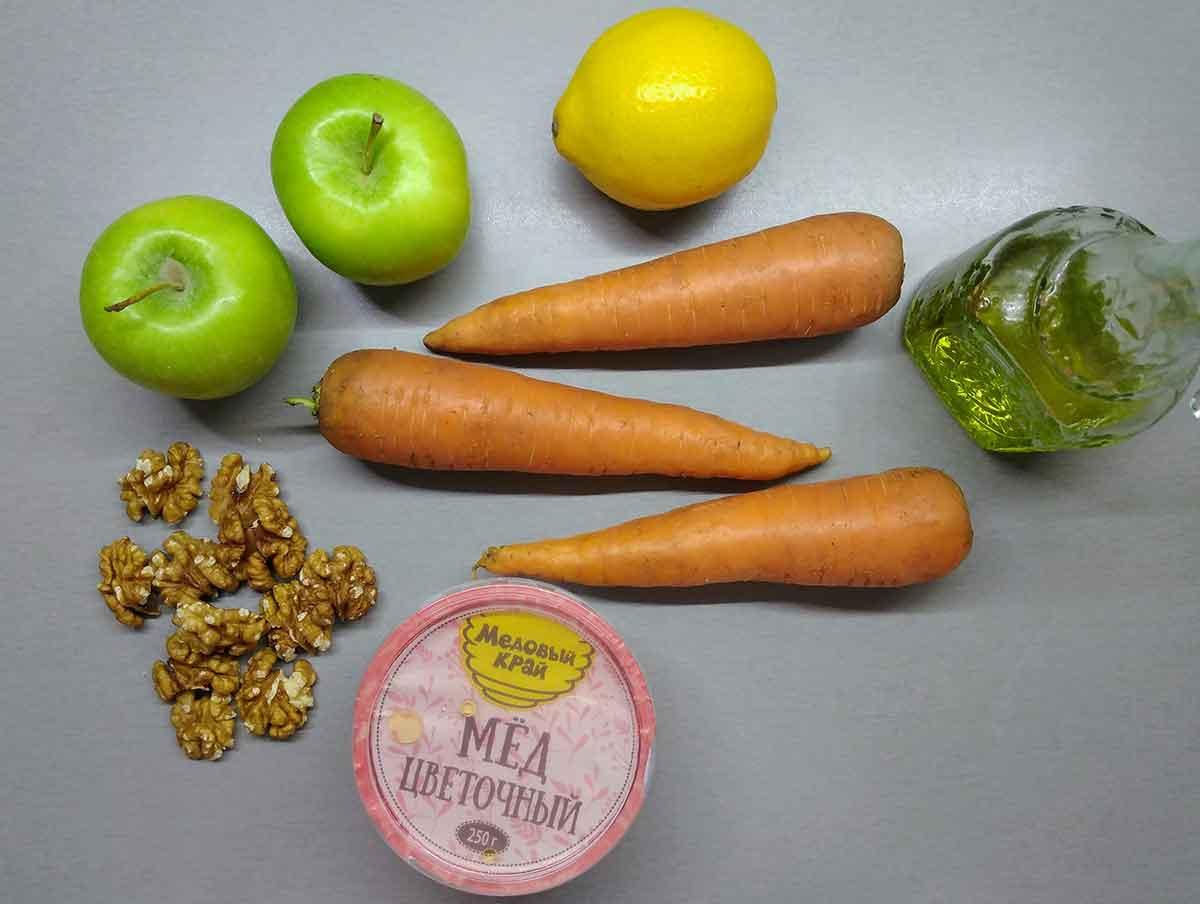 Ингредиенты для морковного салата