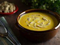 Тыквенный суп пюре с курицей