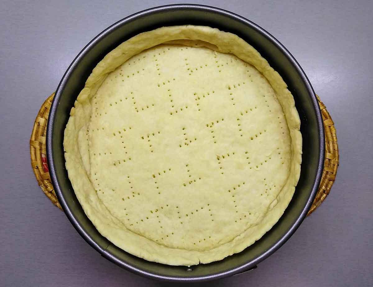 Песочная корзиночка для яблочного пирога